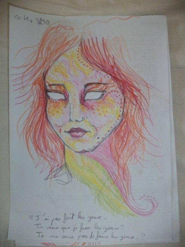 Dziewczyna wzieła LSD i przez cała noc malowała swoje portrety 5