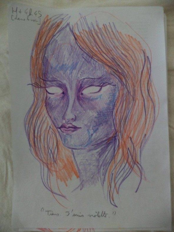 Dziewczyna wzieła LSD i przez cała noc malowała swoje portrety 6