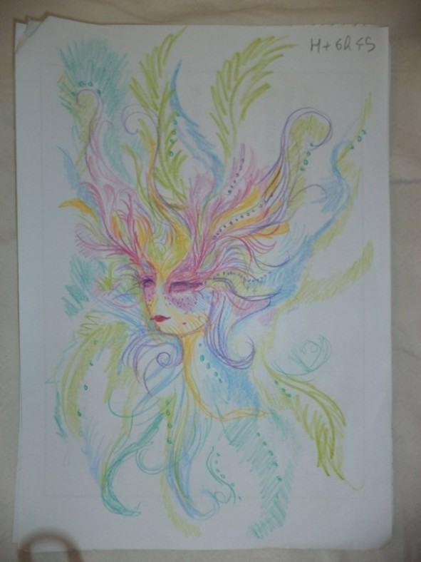 Dziewczyna wzieła LSD i przez cała noc malowała swoje portrety 8