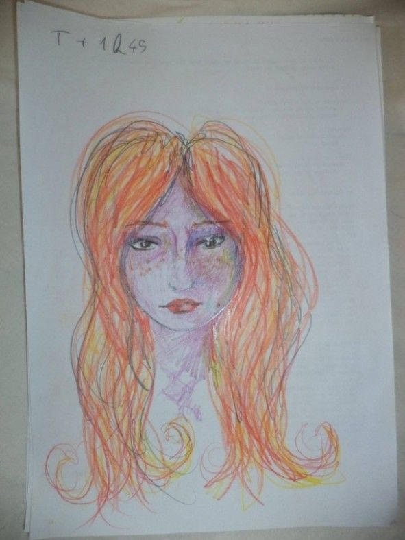 Dziewczyna wzieła LSD i przez cała noc malowała swoje portrety 3