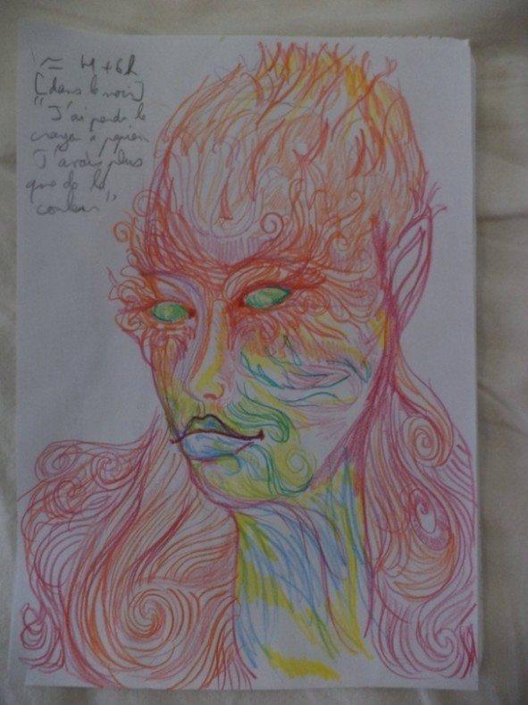 Dziewczyna wzieła LSD i przez cała noc malowała swoje portrety 7
