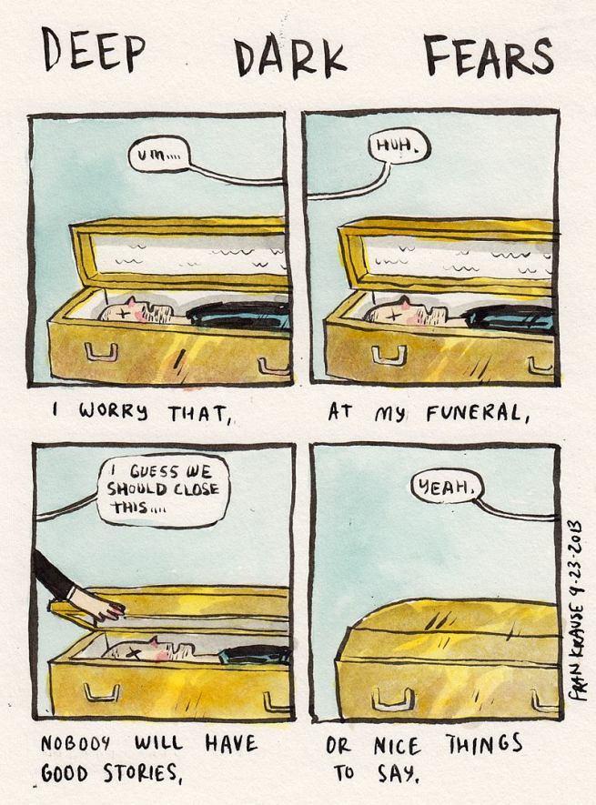 Grafik rysuje komiksy na podstawie ludzkich lęków i obaw 11