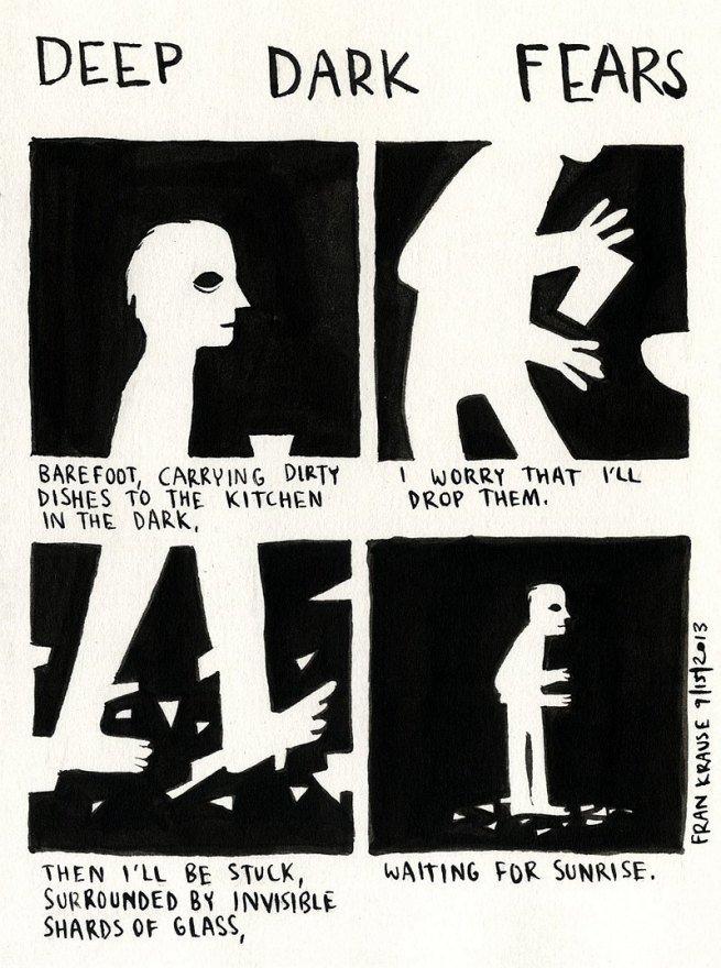 Grafik rysuje komiksy na podstawie ludzkich lęków i obaw 12