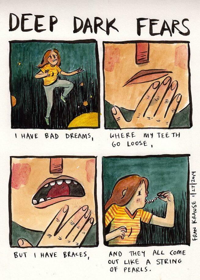 Grafik rysuje komiksy na podstawie ludzkich lęków i obaw 13