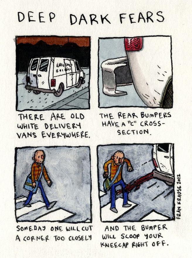 Grafik rysuje komiksy na podstawie ludzkich lęków i obaw 17