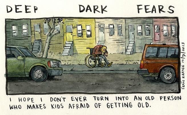 Grafik rysuje komiksy na podstawie ludzkich lęków i obaw 8