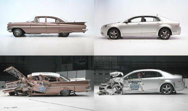 1959 Chevrolet Bel Air vs 2009 Chevrolet Malibu  crash test