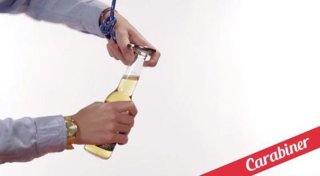 21 sposobów na otwieranie butelek 16 uchwytem do linki