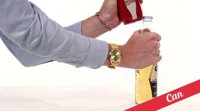 21 sposobów na otwieranie butelek 17 puszką napoju