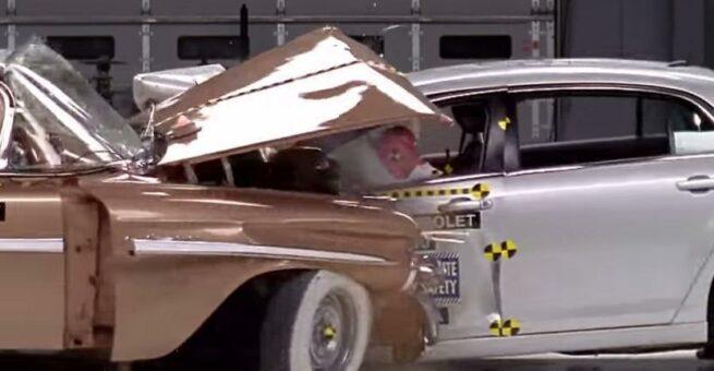 Bezpieczeństwo dawniej i dziś 1959 Chevrolet Bel Air Vs 2009 Chevrolet Malibu 3