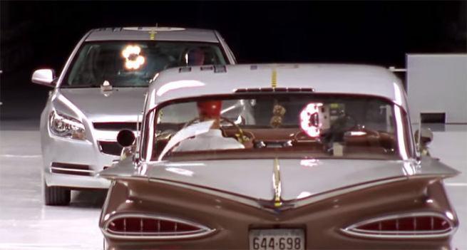 Bezpieczeństwo dawniej i dziś 1959 Chevrolet Bel Air Vs 2009 Chevrolet Malibu