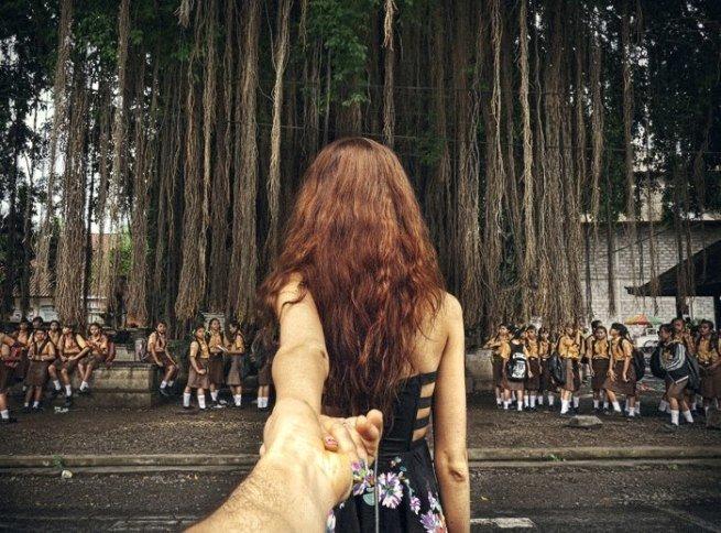 Follow me Murad Osmann w podróży po całym świecie za swoją dziewczyną Natalią Zakharovą 16