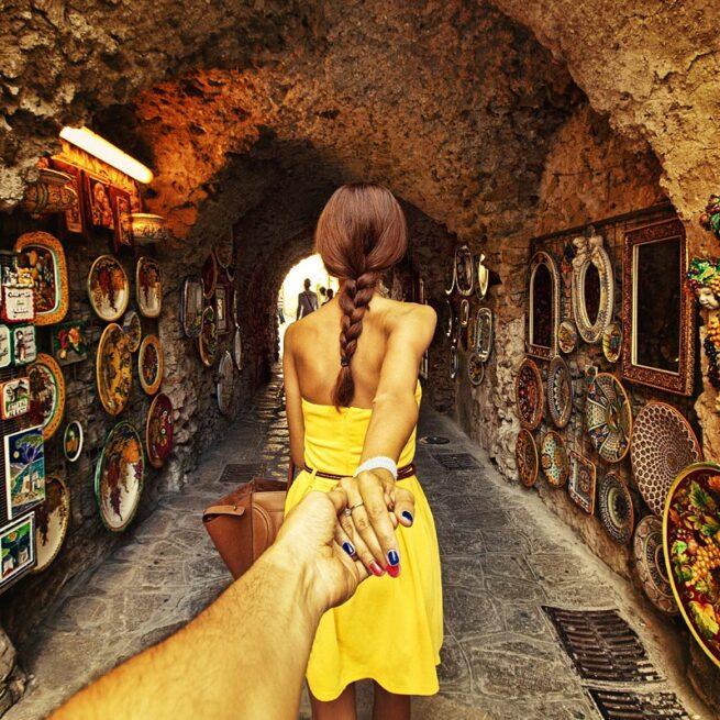 Follow me Murad Osmann w podróży po całym świecie za swoją dziewczyną Natalią Zakharovą 19