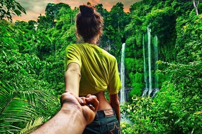 Follow me Murad Osmann w podróży po całym świecie za swoją dziewczyną Natalią Zakharovą 39