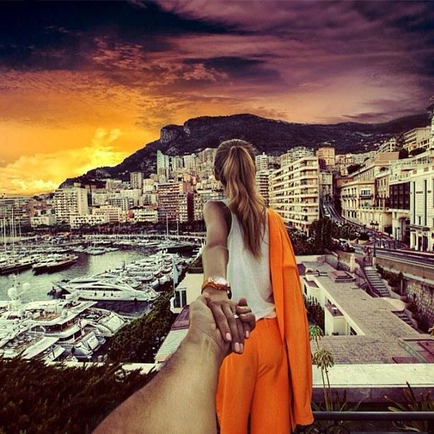 Follow me Murad Osmann w podróży po całym świecie za swoją dziewczyną Natalią Zakharovą 49