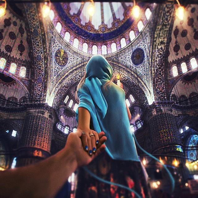 Follow me Murad Osmann w podróży po całym świecie za swoją dziewczyną Natalią Zakharovą 54