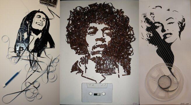 Ghost in the Machine - niesamowite portrety z taśmy magnetofonowej fb