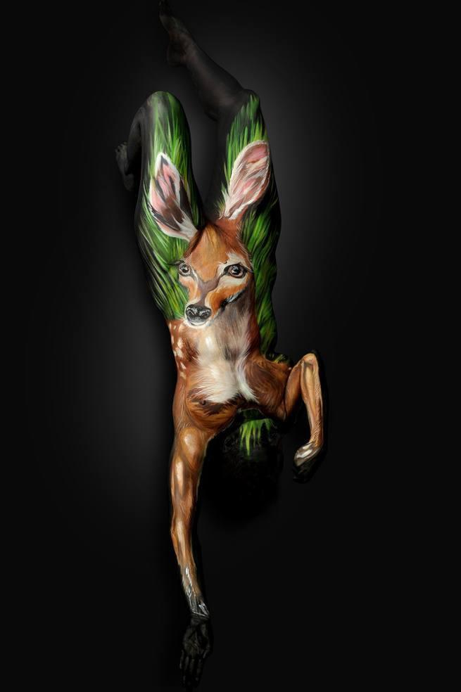 ludzie przemieniają się w zwierzęta deer