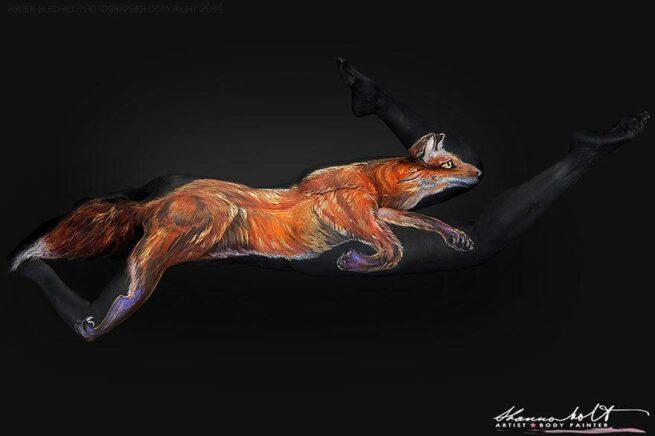 ludzie przemieniają się w zwierzęta rudy lis