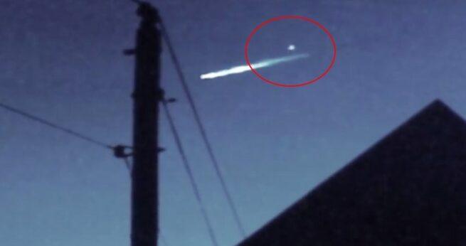 Niezidentyfikowany obiekt wystrzelił ze spadającego Meteoru