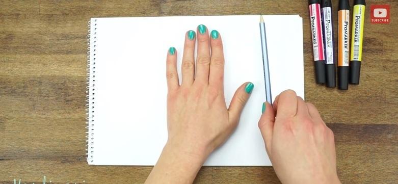 odrysowywanie ręki
