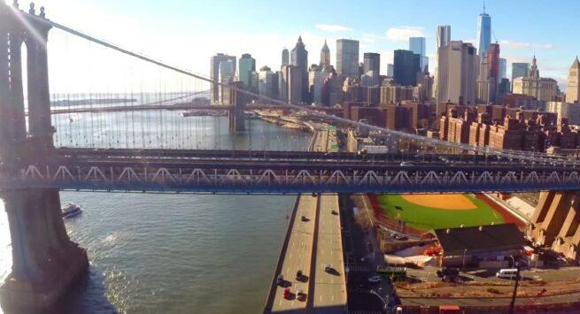 Przelot dronem nad Nowym Jorkiem 4