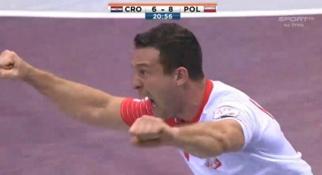 Przemysław Krajewski i fantastyczna bramka w ćwierćfinale MŚ 2015  Polska - Chorwacja!