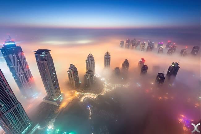 Przepiękne Zdjęcia Miasta W Chmurach Dubaj 1