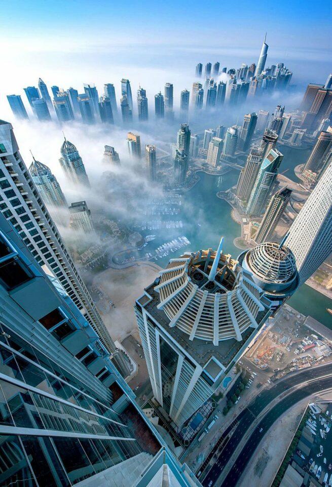 Przepiękne Zdjęcia Miasta W Chmurach Dubaj  11