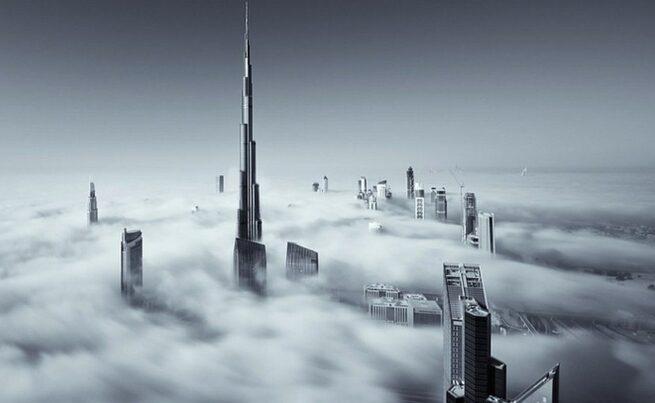 Przepiękne Zdjęcia Miasta W Chmurach Dubaj  13