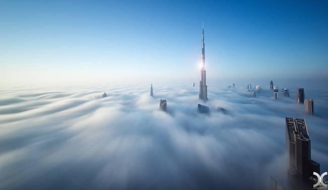 Przepiękne Zdjęcia Miasta W Chmurach Dubaj  2