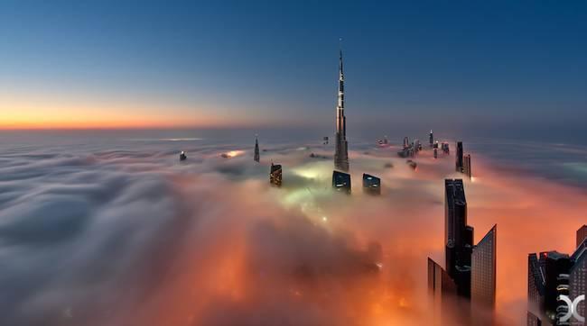 Przepiękne Zdjęcia Miasta W Chmurach Dubaj 4