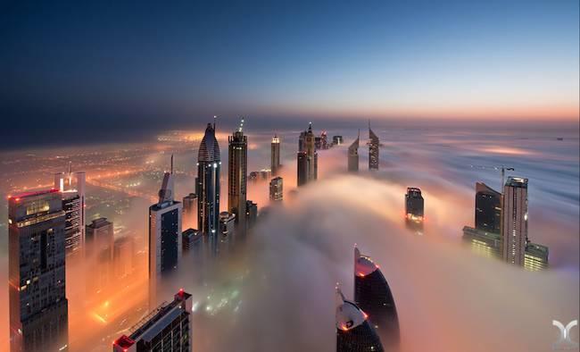 Przepiękne Zdjęcia Miasta W Chmurach Dubaj  5
