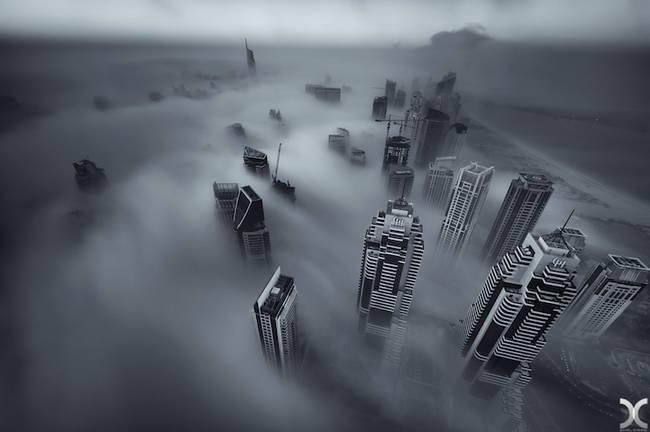 Przepiękne Zdjęcia Miasta W Chmurach Dubaj  6