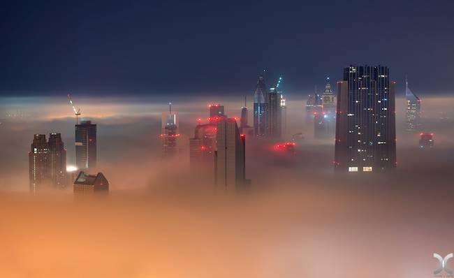 Przepiękne Zdjęcia Miasta W Chmurach Dubaj  7