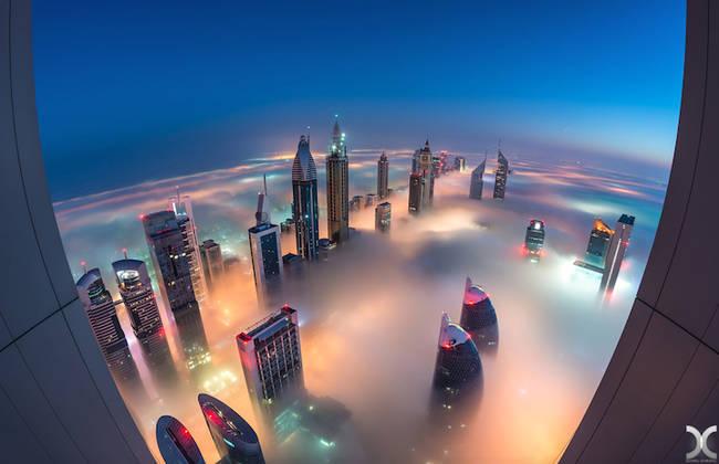 Przepiękne Zdjęcia Miasta W Chmurach Dubaj  8