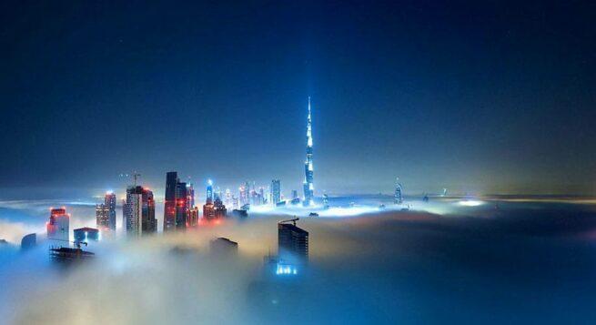 Przepiękne Zdjęcia Miasta W Chmurach Dubaj  9