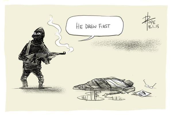 Rysownicy odpowiadają na zamach w redakcji Charlie Hebdo 11