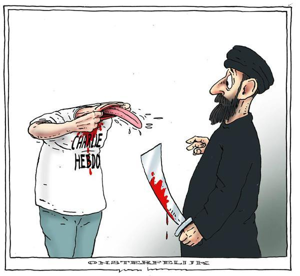 Rysownicy odpowiadają na zamach w redakcji Charlie Hebdo 12