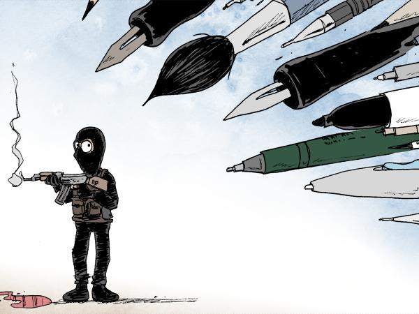 Rysownicy odpowiadają na zamach w redakcji Charlie Hebdo 15