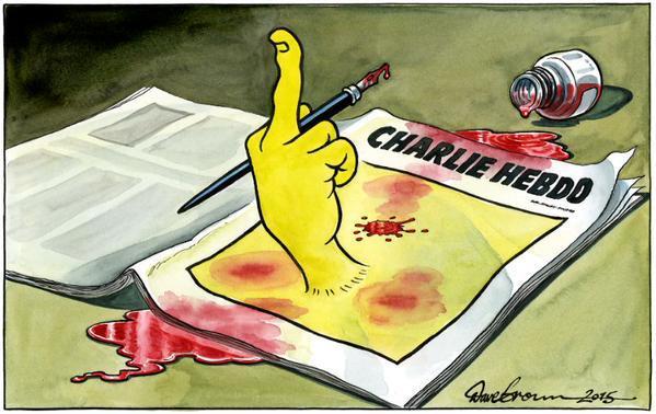Rysownicy odpowiadają na zamach w redakcji Charlie Hebdo 16