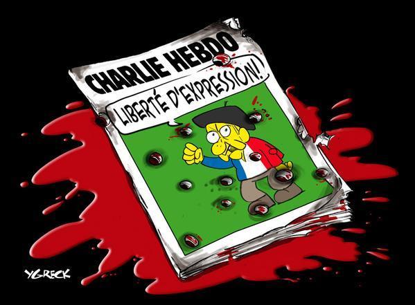 Rysownicy odpowiadają na zamach w redakcji Charlie Hebdo 19