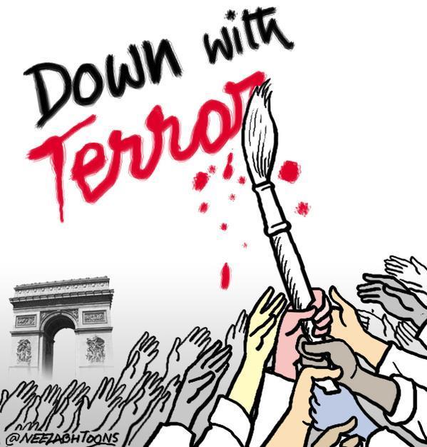 Rysownicy odpowiadają na zamach w redakcji Charlie Hebdo 23