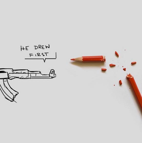 Rysownicy odpowiadają na zamach w redakcji Charlie Hebdo 24