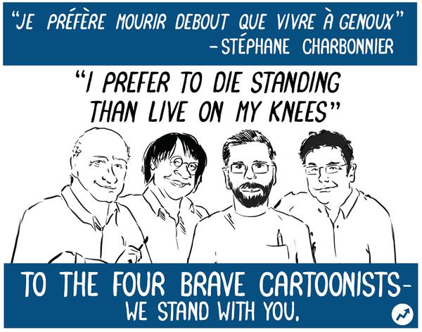 Rysownicy odpowiadają na zamach w redakcji Charlie Hebdo 25