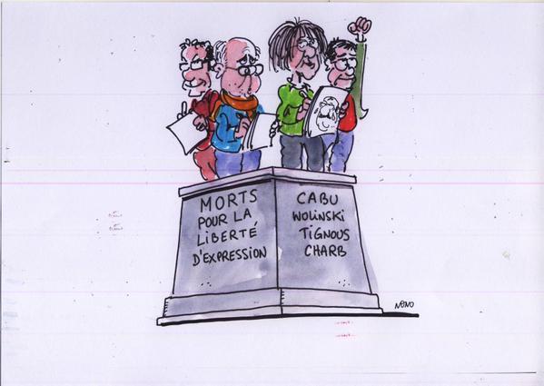 Rysownicy odpowiadają na zamach w redakcji Charlie Hebdo 26