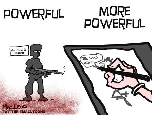 Rysownicy odpowiadają na zamach w redakcji Charlie Hebdo  4