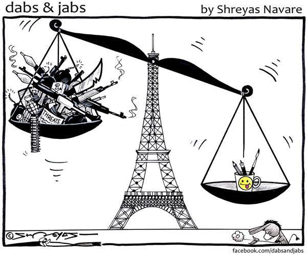 Rysownicy odpowiadają na zamach w redakcji Charlie Hebdo 6