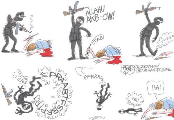 Rysownicy odpowiadają na zamach w redakcji Charlie Hebdo 7