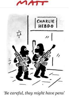 Rysownicy odpowiadają na zamach w redakcji Charlie Hebdo 9